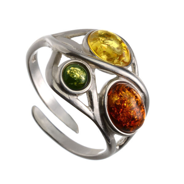 "Baltic Amber Ring ""Magdalena"""