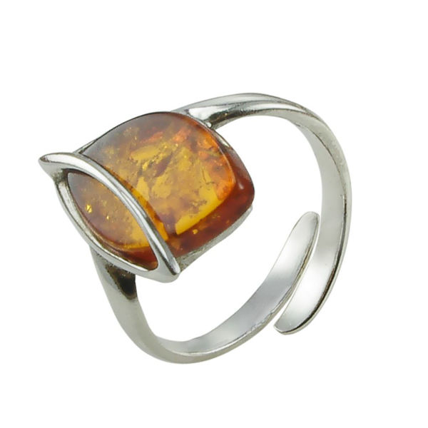 "Honey Amber Ring ""Hanna"""