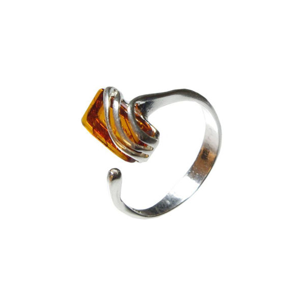 "Baltic Honey Amber Ring ""Nina"""