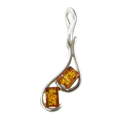 "Sterling Silver and Baltic Amber Pendant ""Isabella"""