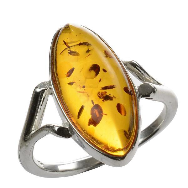 "Baltic Amber Ring ""Autumn"""