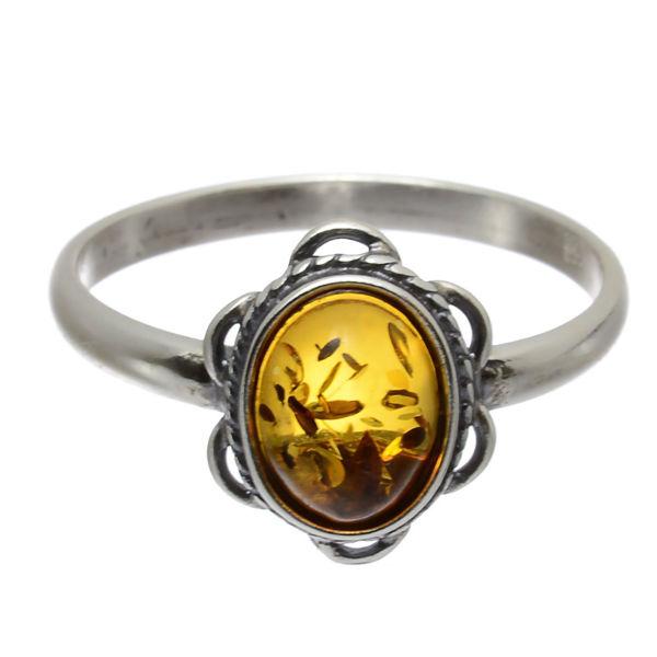 "Baltic Amber Ring ""Brittany"""