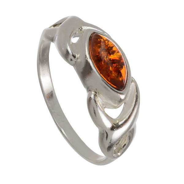 "Baltic Amber Ring ""Lucy"""