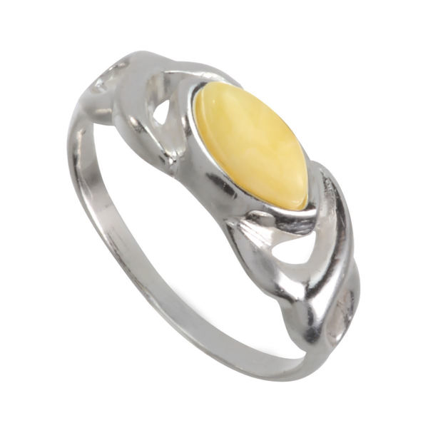"""Baltic Butterscotch Amber Ring """"Lucy"""""""