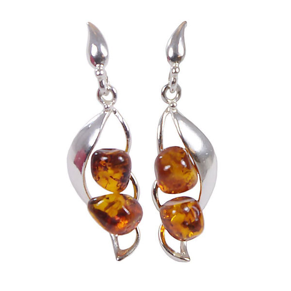 "Baltic Honey Amber Earrings ""Adrianna"""