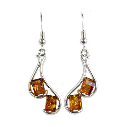 "Baltic Honey Amber Earrings ""Ines"""