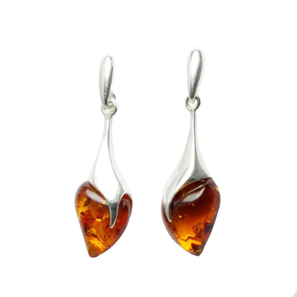 "Honey Amber Earrings ""Karolina"""