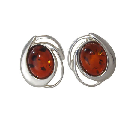 "Baltic Honey Amber Earrings ""Marcelina"""