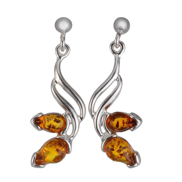 "Baltic Honey Amber Earrings ""Maryl"""