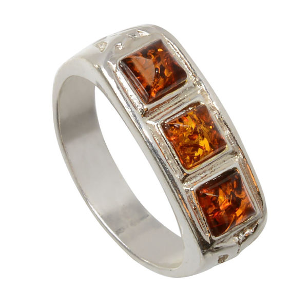 """Baltic Honey Amber Ring """"Brayden"""""""