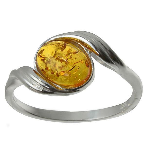 """Baltic Honey Amber Ring """"Estelle"""""""