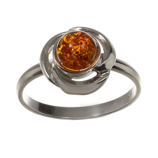 "Baltic Honey Amber Ring ""Kaitlyn"""