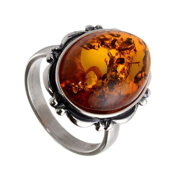 Baltic Honey Oval Amber Ring