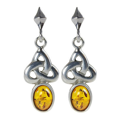 "Baltic Honey Amber Earrings ""Theresa"""