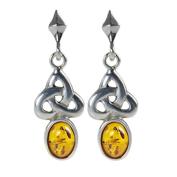 "Baltic Honey Amber Earrings ""Theresa"""