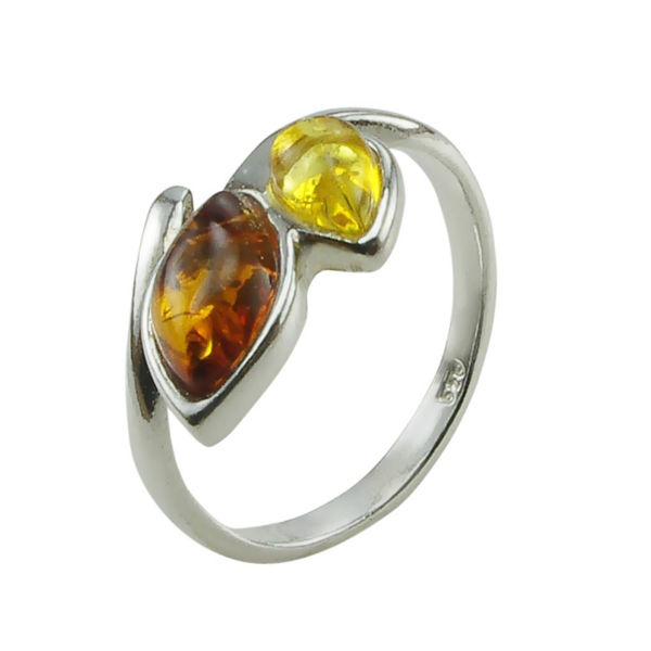 "Amber Adjustable Ring ""Maja"""