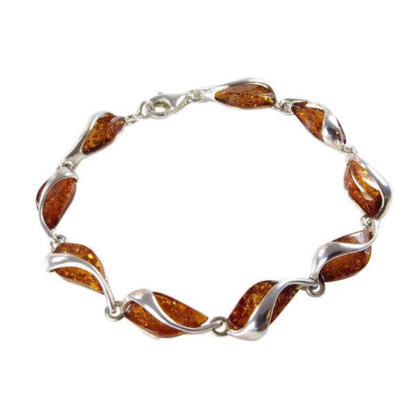Sterling Silver Honey Baltic Amber Bracelet