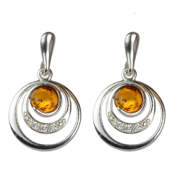 "Baltic Honey Amber Earrings ""Aleta"""