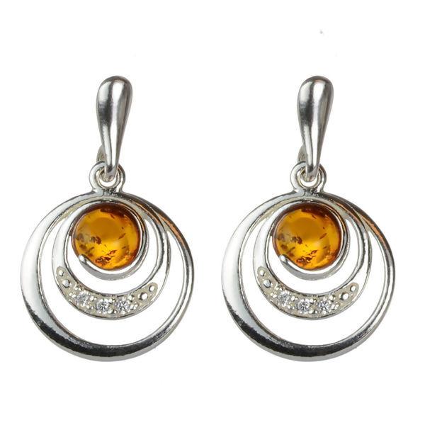 """Baltic Honey Amber Earrings """"Aleta"""""""