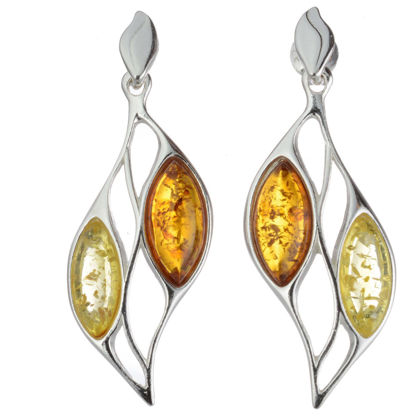 "Baltic Honey Amber Earrings ""Jennifer"""