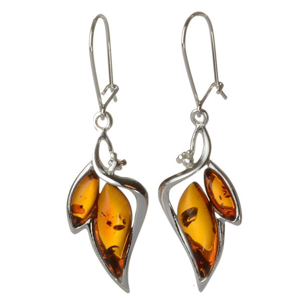 "Baltic Honey Amber Earrings ""Charlotte"""