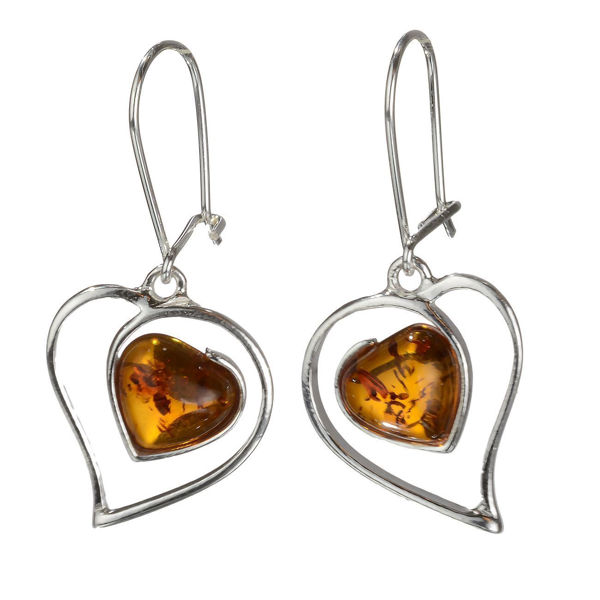 "Baltic Honey Amber Earrings ""Valentine"""