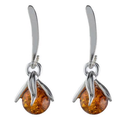 "Baltic Honey Amber Earrings ""Missy"""