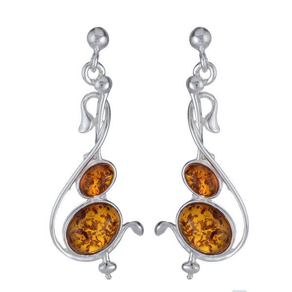 "Baltic Honey Amber Earrings ""Muse"""