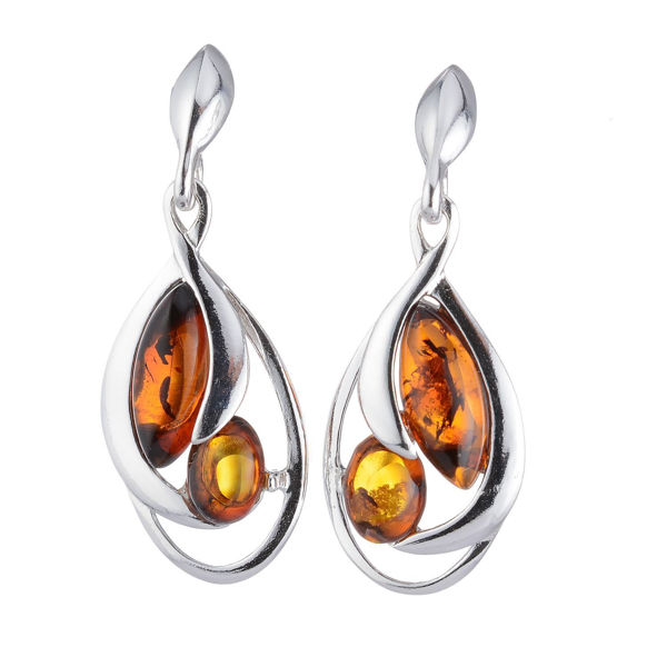 "Baltic Honey Amber Earrings ""Ava"""