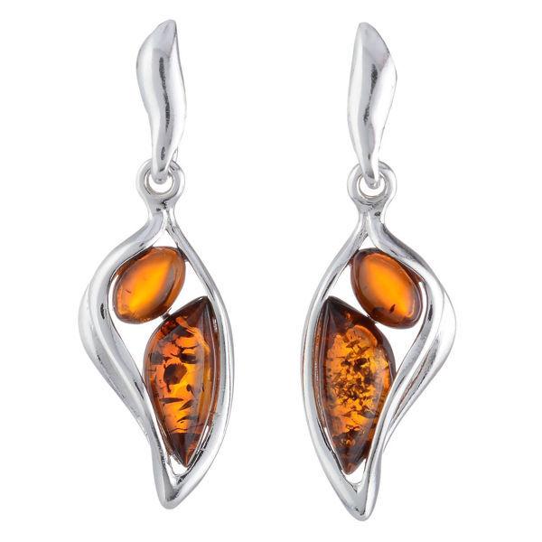 "Baltic Honey Amber Earrings ""Stella"""