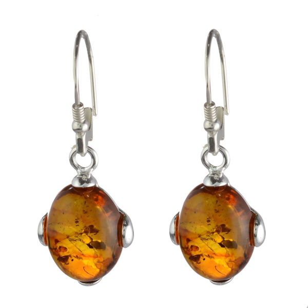 "Baltic Honey Amber Earrings ""Piper"""
