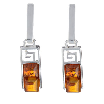 "Baltic Honey Amber Earrings ""Aretha"""