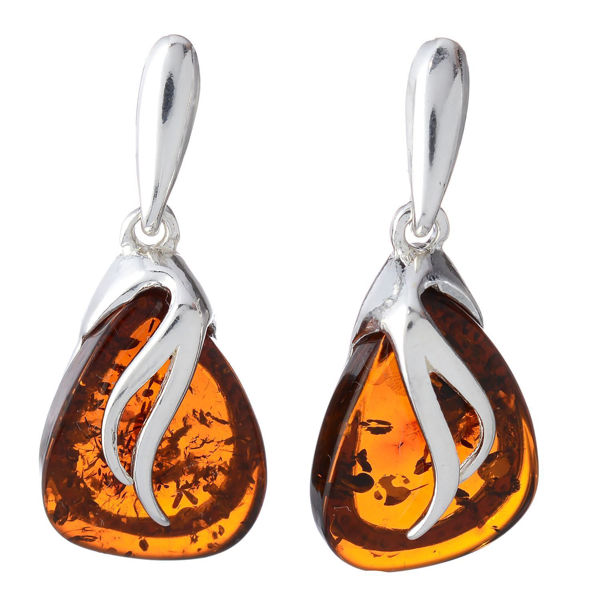 "Baltic Honey Amber Earrings ""Yvonne"""