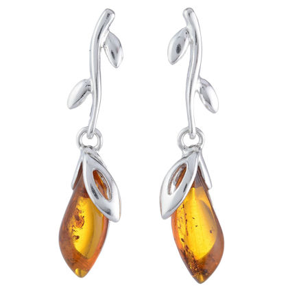 "Baltic Honey Amber Earrings ""Daria"""