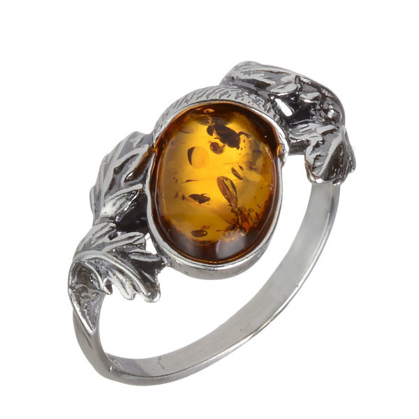 "Baltic Honey Amber Ring ""Dara"""