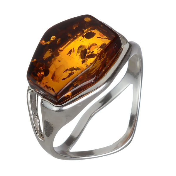 "Baltic Honey Amber Ring ""Ambra"""