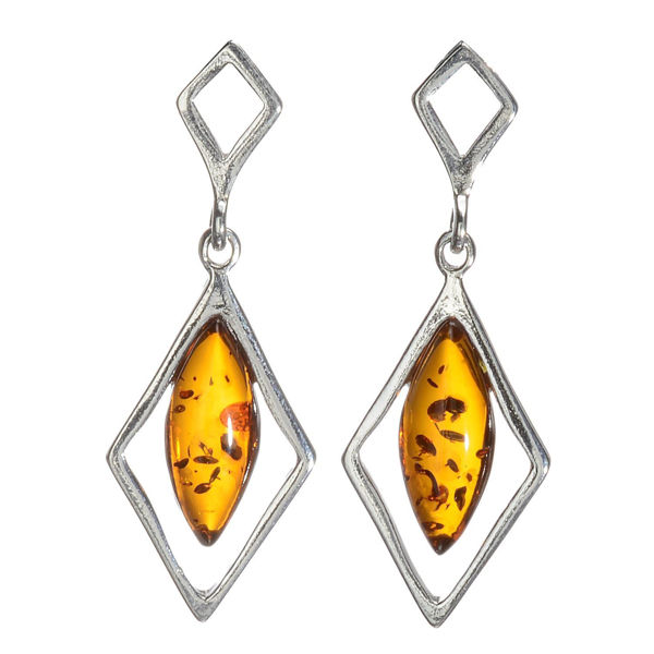 "Baltic Honey Amber Earrings ""Rosalie"""
