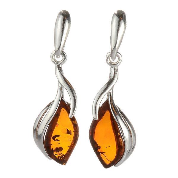 """Baltic Honey Amber Earrings """"Elsie"""""""