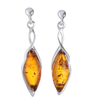 "Baltic Honey Amber Earrings ""Harriet"""