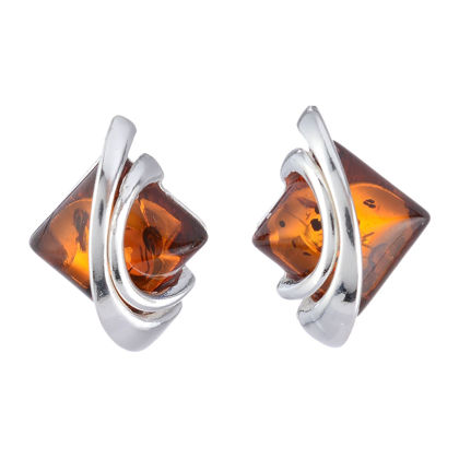 "Baltic Honey Amber Earrings ""Bethany"""