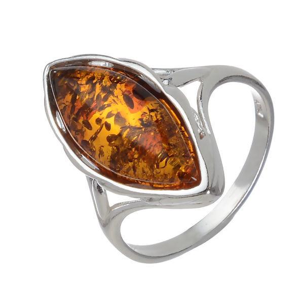 Baltic Honey Marquise Cut Amber Ring