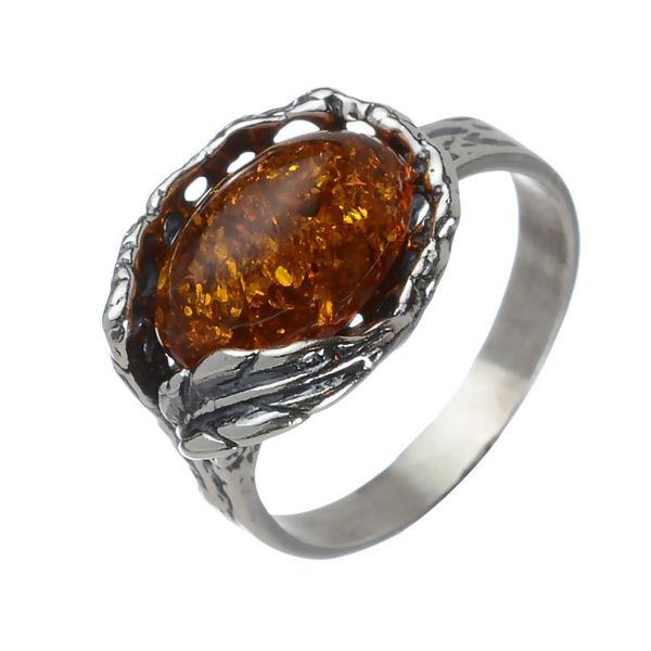 """Baltic Honey Amber Ring """"Katharina"""""""