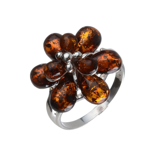 "Baltic Amber Ring ""Alexa"""