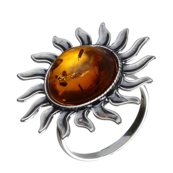 Baltic Honey Amber Sun (Large) Ring