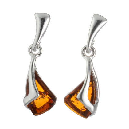 "Baltic Honey Amber Earrings ""Emilia"""