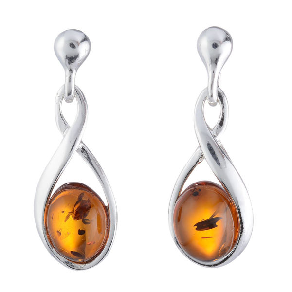 "Baltic Honey Amber Earrings ""Elegance"""