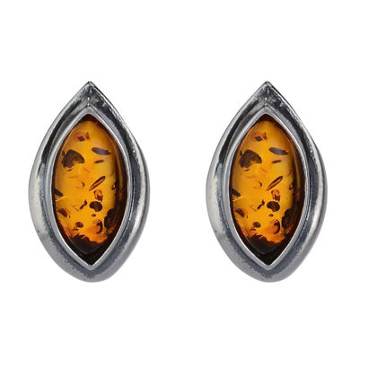 "Baltic Honey Amber Earrings ""Harper"""