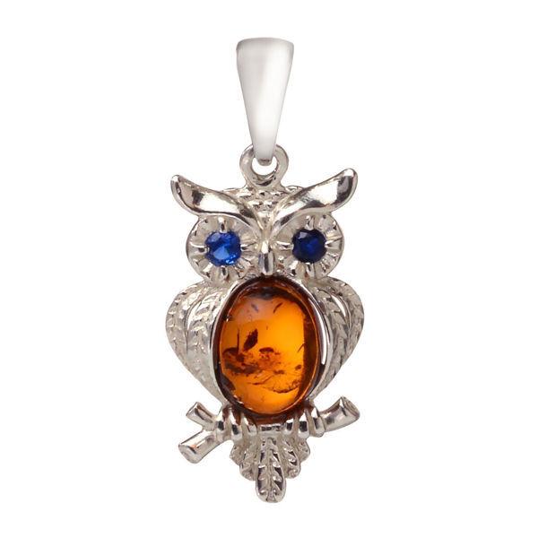 "Baltic Amber Pendant ""Owl"""