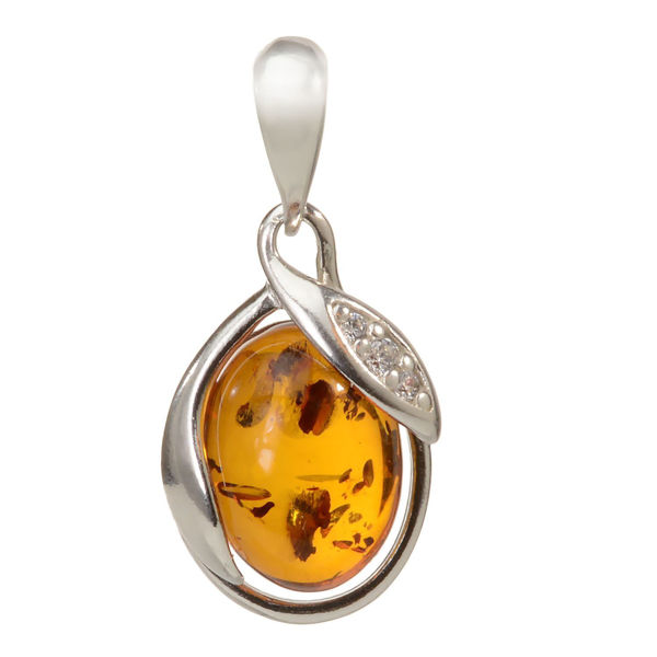 "Baltic Honey Amber Pendant ""Dawn"""