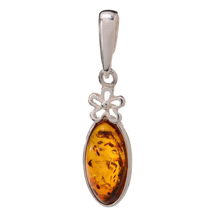 "Baltic Honey Amber Pendant ""Meadow"""